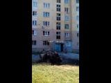 Авдеевка - результат обстрела РСЗО 'Град' 27.07.2014